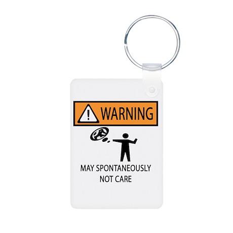 Warning Honey Badger Aluminum Photo Keychain