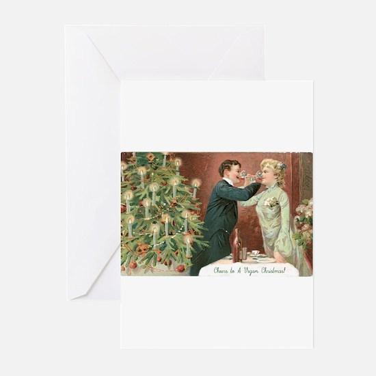 Cute Vegan christmas Greeting Cards (Pk of 20)