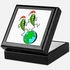 Christmas Peas on Earth Keepsake Box