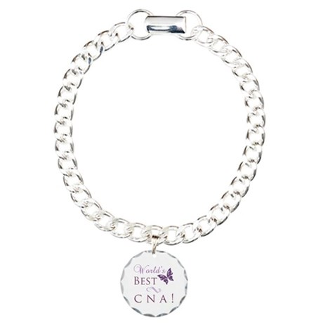 World's Best CNA Charm Bracelet, One Charm