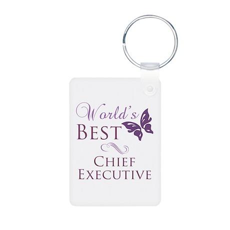 World's Best Chief Executive Aluminum Photo Keycha