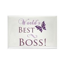 World's Best Boss Rectangle Magnet