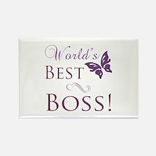 World's Best Boss Rectangle Magnet