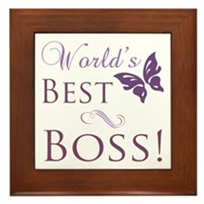 World's Best Boss Framed Tile