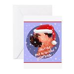 Bull Mastiff Christmas Design Greeting Cards (Pk o