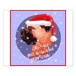 Bull Mastiff Christmas Design Small Poster