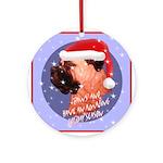 Bull Mastiff Christmas Design Ornament (Round)