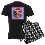 Bull Mastiff Christmas Design Men's Dark Pajamas