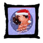 Bull Mastiff Christmas Design Throw Pillow