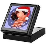 Bull Mastiff Christmas Design Keepsake Box