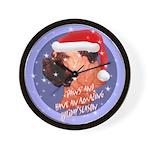 Bull Mastiff Christmas Design Wall Clock