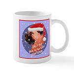 Bull Mastiff Christmas Design Mug