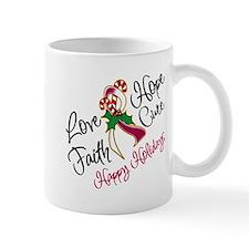 Holiday Hope Throat Cancer Mug