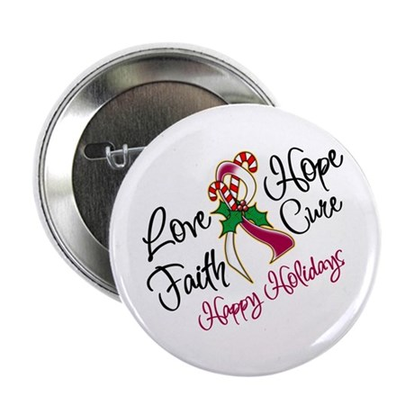 """Holiday Hope Throat Cancer 2.25"""" Button"""