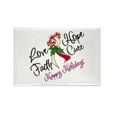 Holiday Hope Throat Cancer Rectangle Magnet