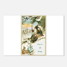 Unique Christmas animals Postcards (Package of 8)
