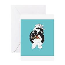 Shitzu BLUE Greeting Card