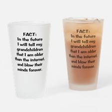Older than the internet Drinking Glass