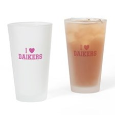 I Love Daikers Drinking Glass