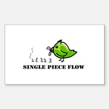 Single Piece Flow Decal