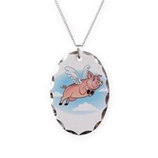 When Pigs Fly Happy Piggy Necklace