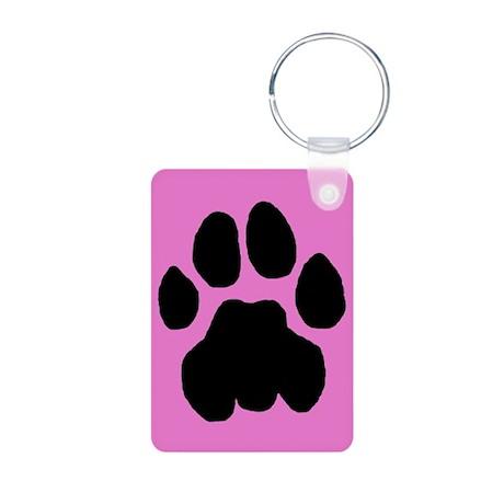 Cougar Mountain Lion Puma Aluminum Pink Keychain