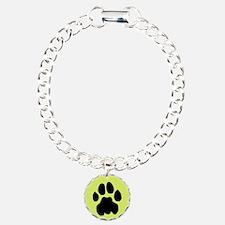 Cougar Mountain Lion Puma Charm Bracelet Yellow