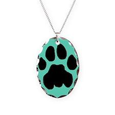Cougar Mountain Lion Puma Necklace Blue Charm