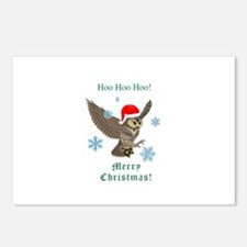 Post Owl Christmas Postcards (Package of 8)