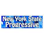 New York State Progressive Bumper Sticker