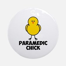Paramedic Chick Ornament (Round)
