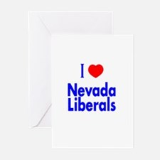 I Love Nevada Liberals Greeting Cards (Package of