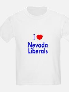 I Love Nevada Liberals Kids T-Shirt