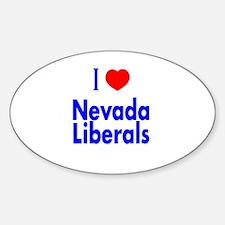 I Love Nevada Liberals Oval Decal