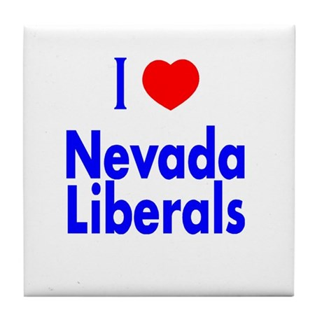 I Love Nevada Liberals Tile Coaster
