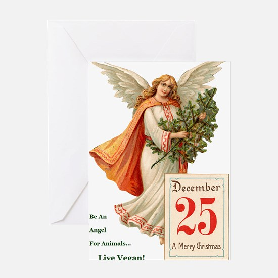 Funny Vegan christmas Greeting Card