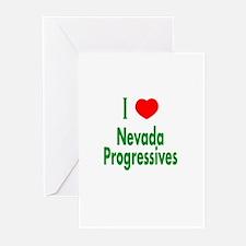 I Love Nevada Progressives Greeting Cards (Package