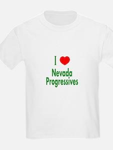 I Love Nevada Progressives Kids T-Shirt