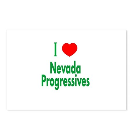 I Love Nevada Progressives Postcards (Package of 8