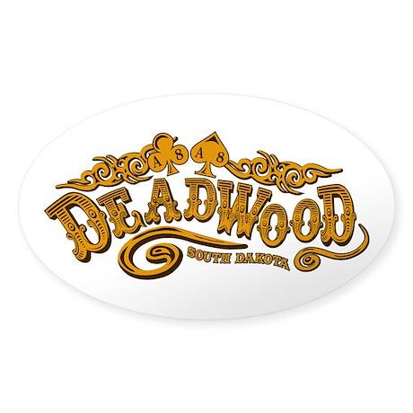 Deadwood Saloon Sticker (Oval)