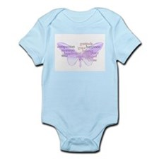Peace and Gratitude Butterfly Infant Bodysuit