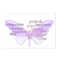 Peace and Gratitude Butterfly Postcards (Package o