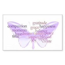 Peace and Gratitude Butterfly Decal