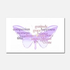 Peace and Gratitude Butterfly Car Magnet 20 x 12