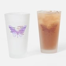 Peace and Gratitude Butterfly Drinking Glass