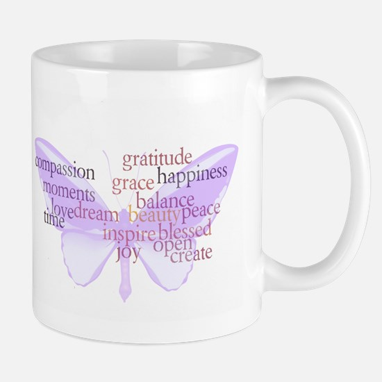 Peace and Gratitude Butterfly Mug