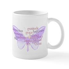 Peace and Gratitude Butterfly Mug
