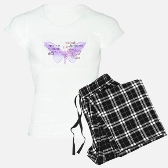 Peace and Gratitude Butterfly Pajamas