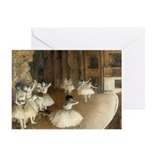 Rehearsal Ballet Onstage Greeting Card