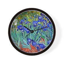 Van Gogh - Irises 1889 Wall Clock